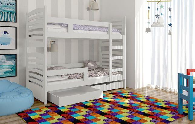 Sosnowe łóżko piętrowe dla dzieci OLEK! Materace Gratis
