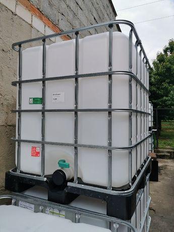 1m3 szambo paliwo na wodę atest spożywczy paletopojemnik mauser beczka