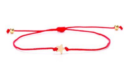 czerwona branzoletka sznurek na szczęście, branzoletka,