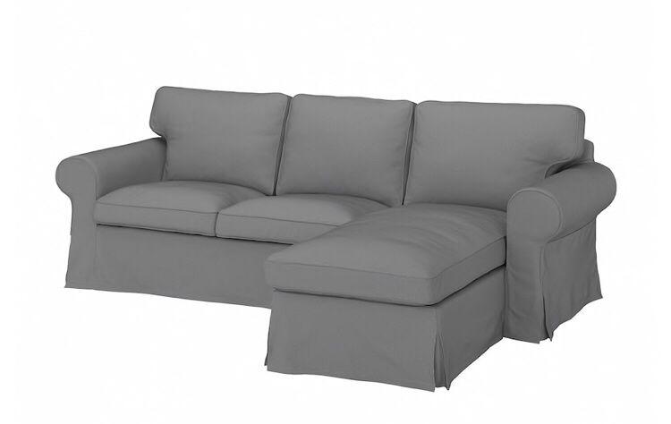 Sofa 3 osobowa z leżanką Ikea Ektorp grafitowa szara narożnik Sosnowiec - image 1