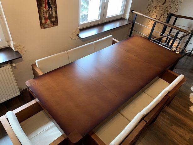 Stół rozkładany z krzesłami 8 osobowy