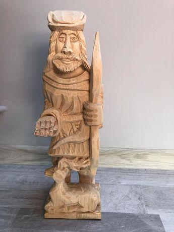 Rzeźba Św. Hubert - figura - łowiectwo - myśliwy