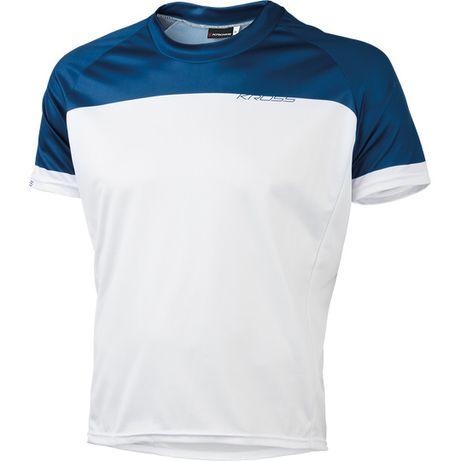 Kross Koszulka Roamer biało-niebieska r. S