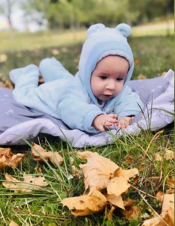 Тёплый человечек, тёплая кофта на замке и фотофон для младенца