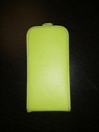 Samsung S4 mini etui klapka limonkowe
