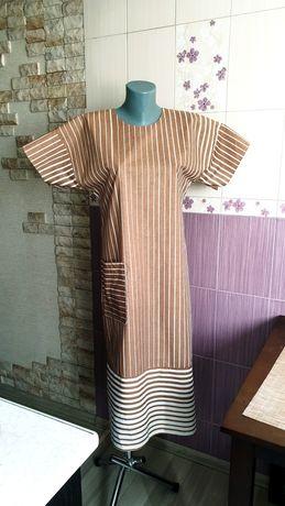 Дизайнерское финское хлопковое платье рубашка сари