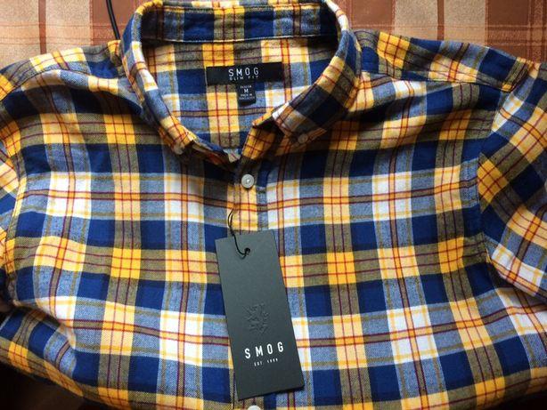 Рубашка SMOG Slim fit, M, 100% бавовна, нова