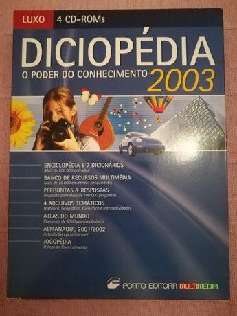 Diciopedia 2003 - enciclopédia multimédia - versão luxo - 4 CDs
