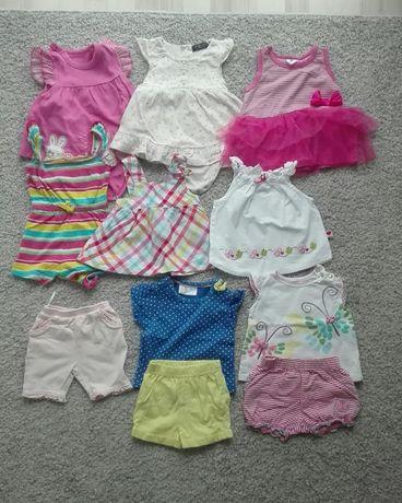 Ciuszki dla dziewczynki na lato 62-68 3-6 miesięcy