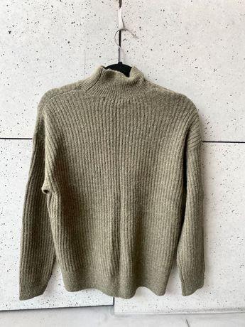Nowy sweter h&m  roz xs / s khaki oliwka