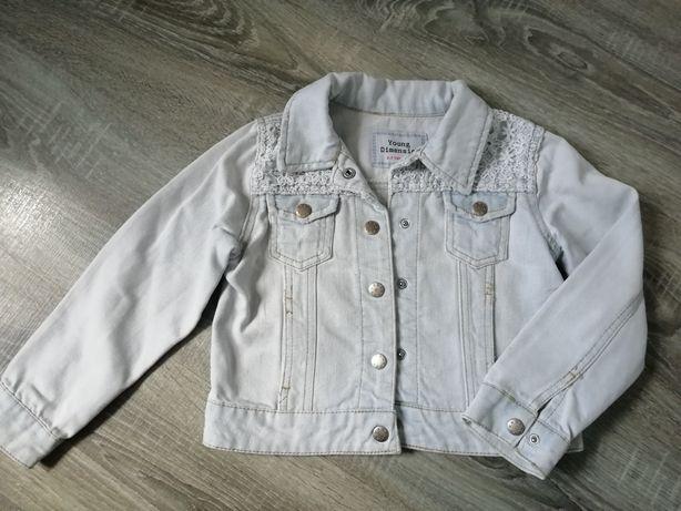Katana jeansowa kurtka dziewczynka 122