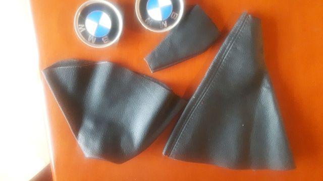 Mieszek na gałkę do zmiany biegów + dwa oryginalne znaczki BMW