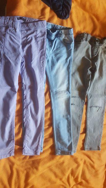 Spodnie rozmiar 128, legginsy, jeans, jegginsy
