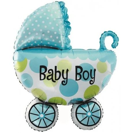 Фольгированный шар Коляска для мальчика BABY BOY