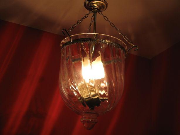żyrandol latarnia w starym mosiądzu