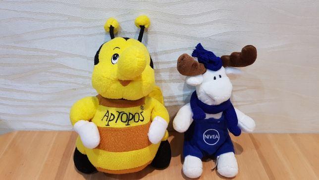 Мягкие игрушки пчелка и лось Нивея