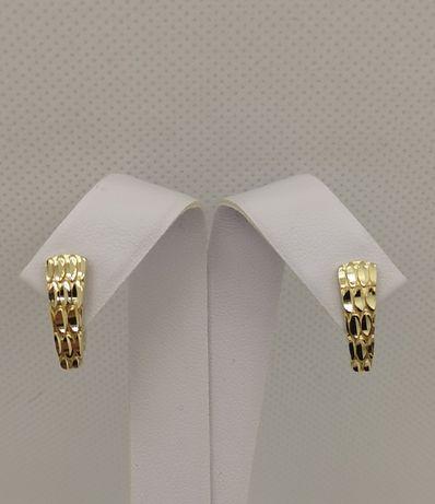 Piękne złote kolczyki, zapięcie angielskie. Nowe. Złoto 14k/585