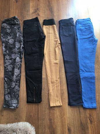 11 par spodni jak nowe dżinsy legginsy w kwiaty Zara i inne S spodnie