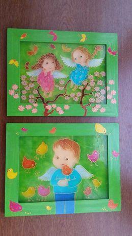Картины витраж Детские картины