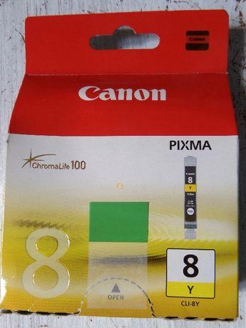 Oryginalny Tusz ŻÓŁTY CANON Pixma 8Y CLI-8Y ChromaLife100 13ml Yellow