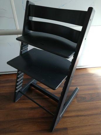 Krzesełko Tripp Trapp Stokke malowane ciemny grafit