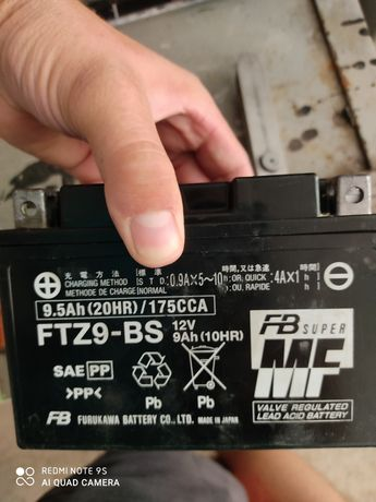 Мото акумулятор FTZ9-BS  YTX9-BS  9A