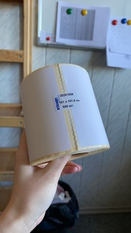 Термоэтикетка 101х101,5 мм. для ТТН Новой почты.