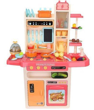 Kuchnia zabawkowa dla dzieci 93cm różowa + para
