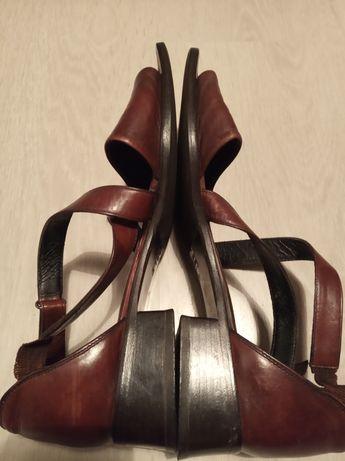 Piękne skórzane włoskie sandały Made in ITALY Vero Cuoio Retro Vintage
