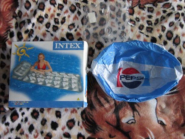 Матрас надувной Intex + мяч Pepsi в подарок Нов