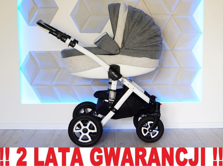 Wózek ADAMEX BARLETTA 2w1 - rewelacyjny, szary !! WYSYŁKA 24h!! Elbląg - image 1