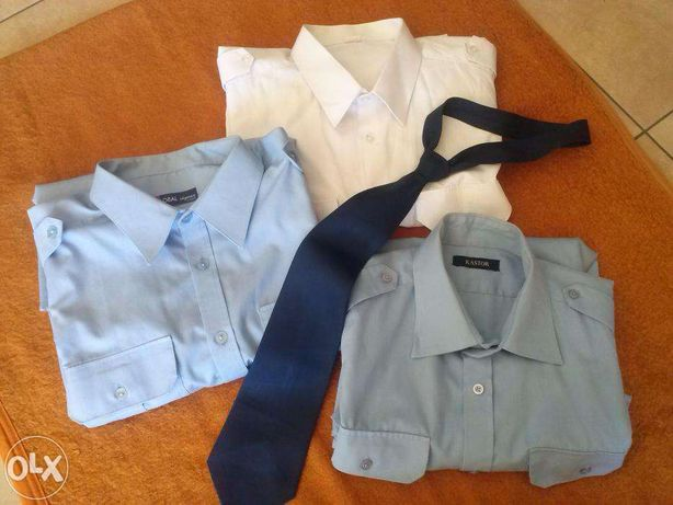 Koszula służbowa biała 1 szt.milicja, policja, ochrona, krótki rękaw