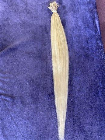 Натуральные волосы для наращивания , блонд 70 см,