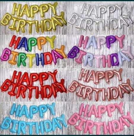 Продам набор фольга шариков Happy birthday