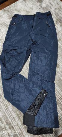 Spodnie zimowe damskie narciarskie snowboardowe  38 granatowe