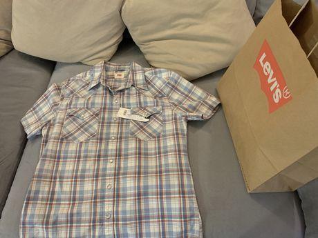 Рубашка с коротким рукавом мужская Levi's(Levis, Левис, Ливайс)2399 г