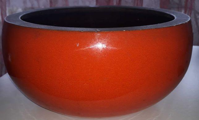Vaso de louça laranja