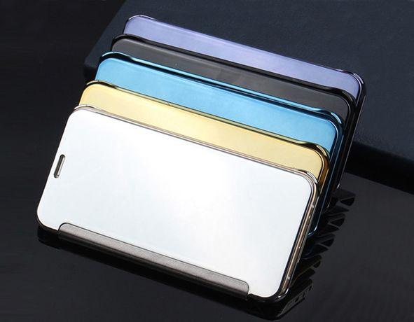 Чехол Книжка для Samsung a3 a5 a7 2015 2016 2017 A6 2018 + зеркальный