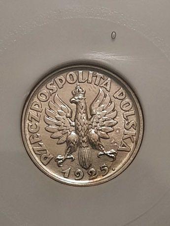 1 zł  1925r z kropką po dacie