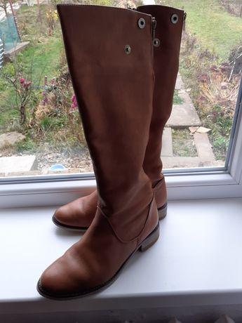 Сапоги чоботи ботинки ЗИМА кожа