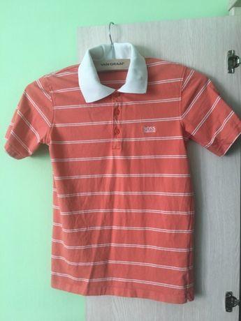 Koszulka polo Hugo Boss t-shirt z kołnierzem 5 6 7 lat 134 140 w paski