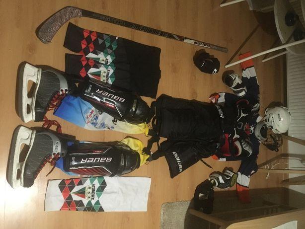 kompletny strój hokejowy młodzieży wiek 13 lat