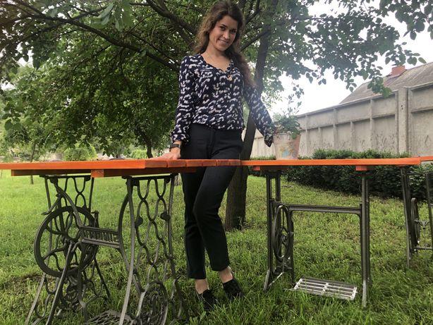 Садовые столы из швейных машинок
