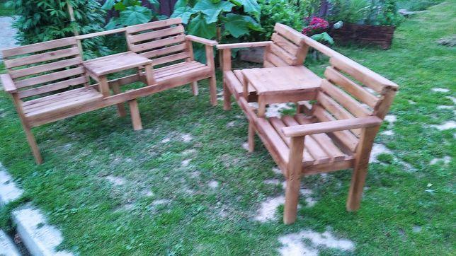 Zestaw ogrodowy,ławka z stolikiem.