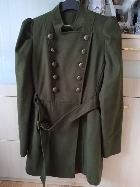 Płaszcz krój militarny F&F flausz rozmiar 20