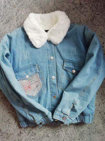 Новая джинсовая курточка куртка потёртости размер Л L