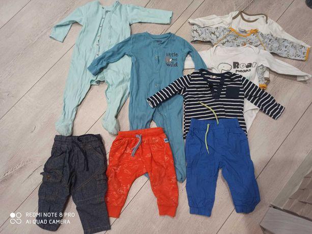 Paczka ubrań. Body spodnie pajace 74/80