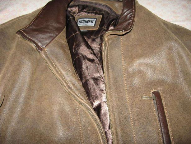 Продам мужскую турецкую кожаную куртку