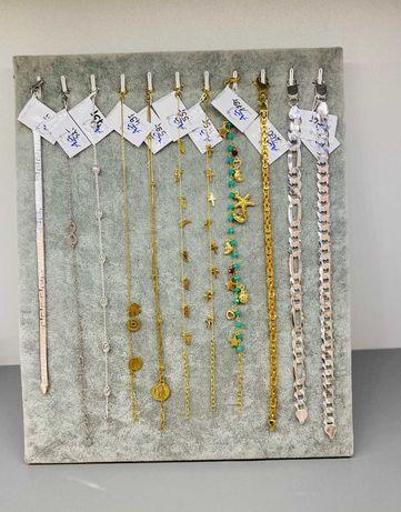 NOWE SREBRNE srebro złoto bransoletka 925 Duży wybór biżuterii LOMBARD