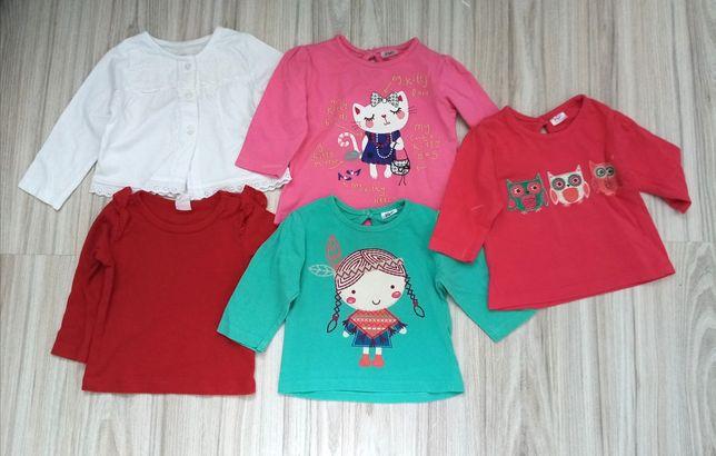 Koszulka, bluzeczka, koronka, kwiaty, sowy, kotek, FF, H&M, śpiworek